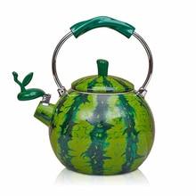 Best Enamel Watermelon Kettle 2.0L Porcelain Enamel Teapot Kettle Whistle Kettle Enamelware Drop Shipping