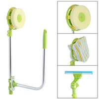 Multi Functional U Shape Telescopic High rise Window Glass Cleaner Dust Brush For Washing Window Mirror Cleaning Tool Dropship