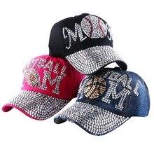 wholesale brand Popular young female girl denim baseball caps new fashion women heart shaped rhinestone jeans snapback hats
