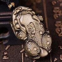 Genuine Obsidian Pixiu Necklace Good Luck Pixiu Beaded Necklace Fengshui Wealth Pixiu Necklace Lucky Jewelry