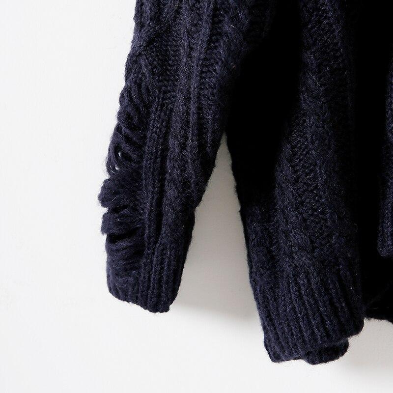 Col Fil Femme Taille Fleur M6608 Et Twist Chandail Lâche The Littérature Blue Art Rond Grand red Crochet Cassé Trou xxAqBpP