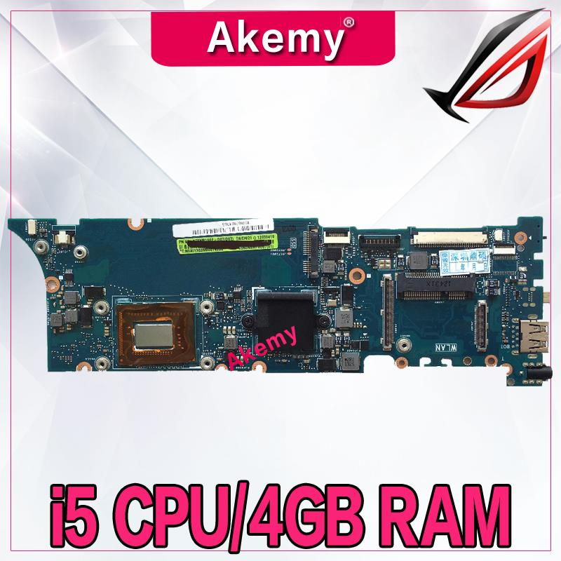 Akem TAICHI21 With I5-3317CPU 4G RAM mainboard For ASUS TAICHI21 Laptop motherboard MAIN BOARD 100% Tested Working free shippingAkem TAICHI21 With I5-3317CPU 4G RAM mainboard For ASUS TAICHI21 Laptop motherboard MAIN BOARD 100% Tested Working free shipping