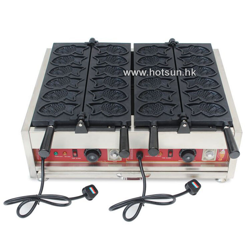 Free Shipping Stainless Steel Commercial Use Non-stick 110v 220v Electric 12pcs Fish Waffle Taiyaki Maker Iron Baker Machine free shipping commercial electric taiyaki korean poop bread waffle maker iron machine