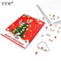 Ensembles de Bijoux de mode Pour Les Femmes Goujon Boucle D'oreille et Bracelet Avec Boîte de Papier Diy & Unisexe Cadeau De Noël Bijoux Charme Bijoux