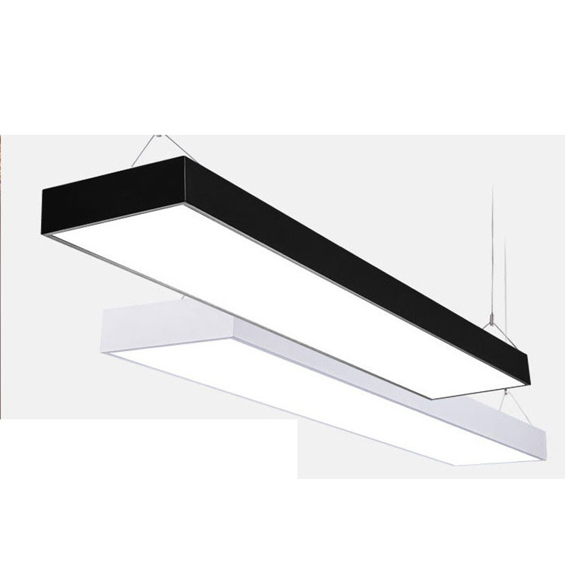 цена Office lights simple office lighting hanging line lights modern office chandeliers ceiling lamp lighting fixture led lamp led
