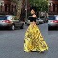 2016 New Product African Fashion Women Skirt High Waist Skirts Womens Vintage Long Skirt F1082