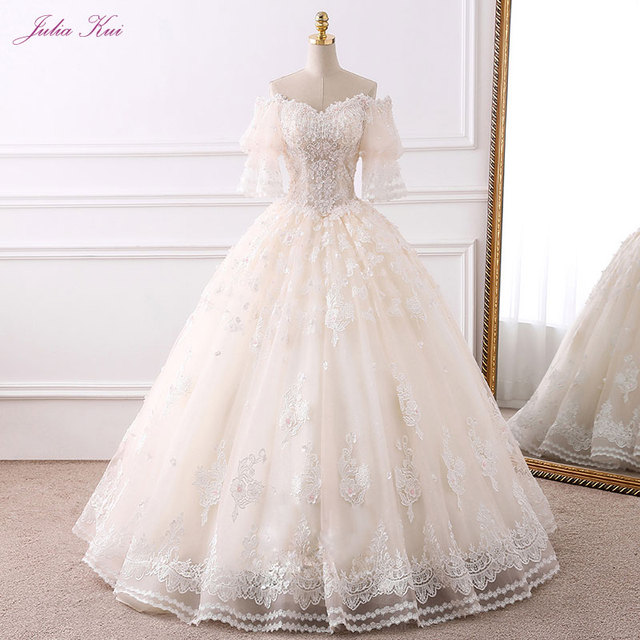 60a6c99b4a US $238.98 25% OFF Aliexpress.com : Buy Julia Kui Real Photos Vintage  Beaded Organza Ball Gown Wedding Dress Lace Up Sweetheart Bridal Gown  Vestido De ...