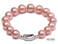 Уникальный жемчуг ювелирный магазин AAA 11 мм 13 мм розовый натуральный пресноводный жемчуг браслет 19 см 925 Серебряная застежка