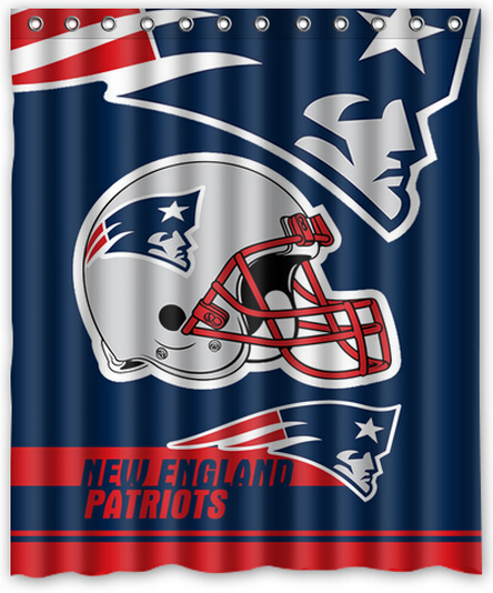Cool Design NFL New England Patriots Polyester 60 X 72 Inch Shower