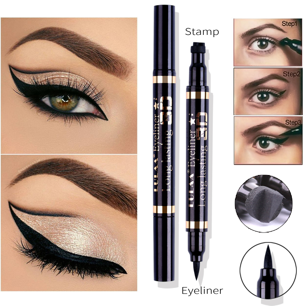 Eyes eyeliner pencil liquid eyeshadow makeup waterproof matte durable easy liquid face cosmetics in Eye Shadow Liner Combination from Beauty Health