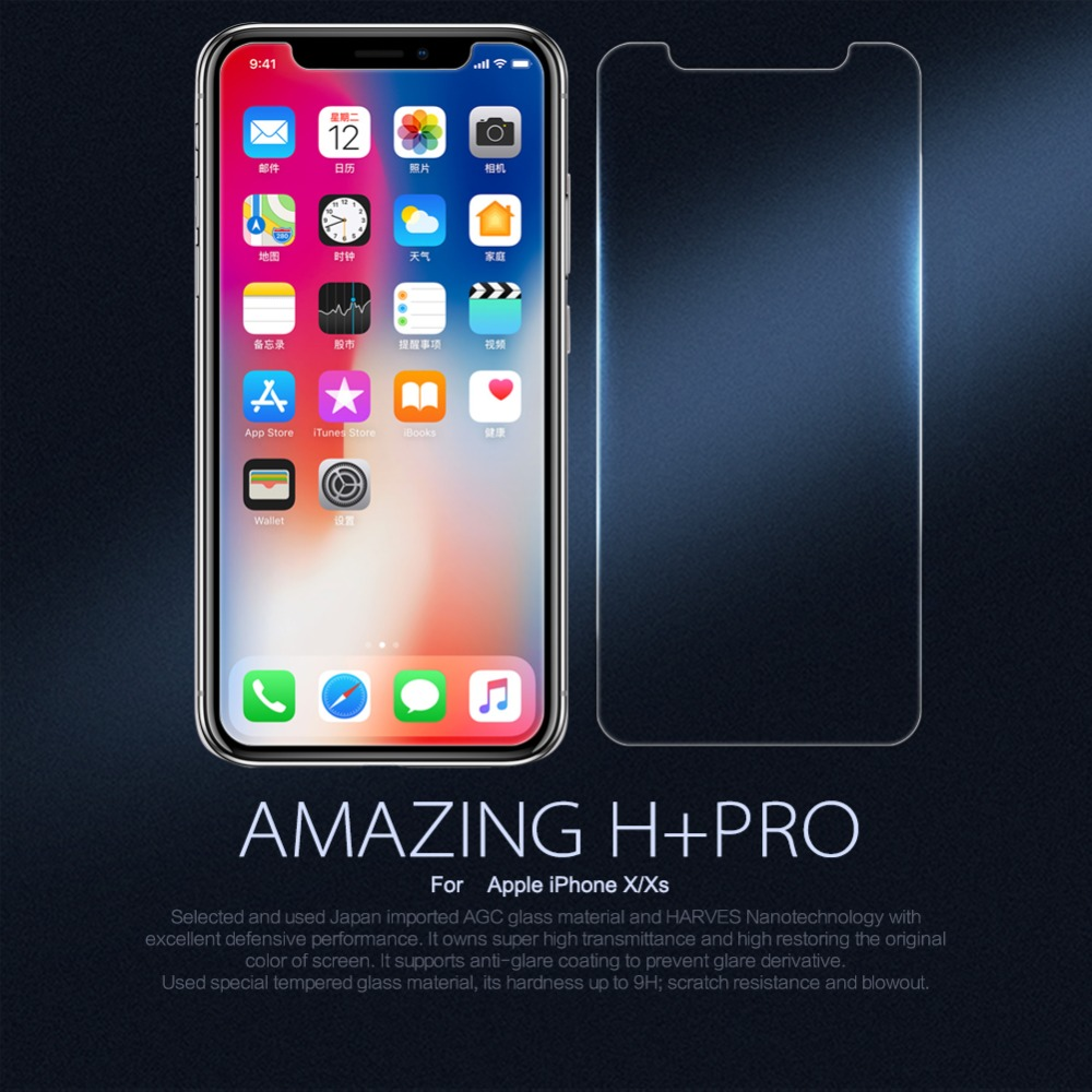 10pcs lot Wholesale NILLKIN Amazing H PRO Anti Explosion Tempered Glass Screen Protector Film For Apple