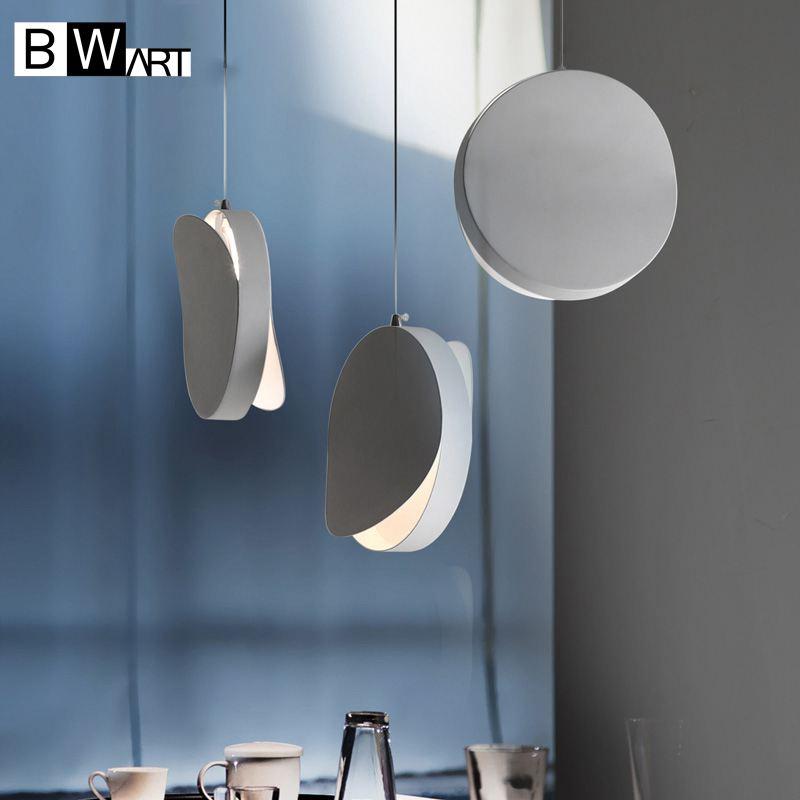 BWART Modern black white industrial pendant hanging light luminaire chandelier loft LED fixtures for bar cafe dining room