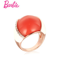 Barbie Coralito Ring Fashion Finger Jewelry Austria Stone Cat Eye Ring Crystal Decorated Rings