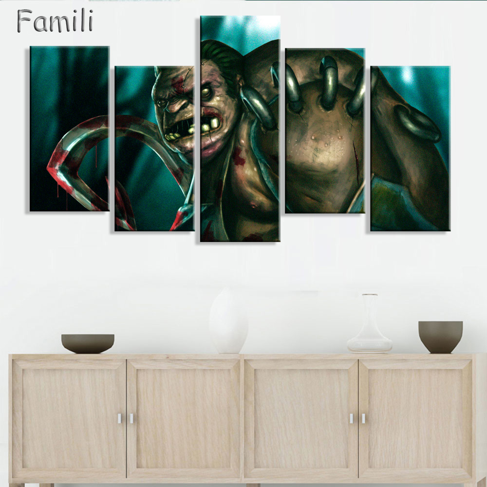 popular mage canvas art buy cheap mage canvas art lots from china 5 panel game anti mage dota 2 wall art picture modern home decoration living room or