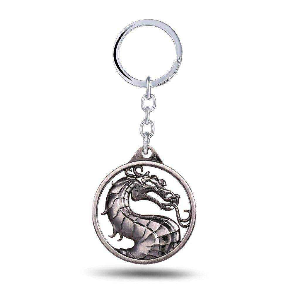 HSIC, 3 цвета, грагон, горячая игра, Mortal Kombat, брелок, металлический брелок для ключей в подарок, chaviro, брелок, ювелирное изделие для автомобилей