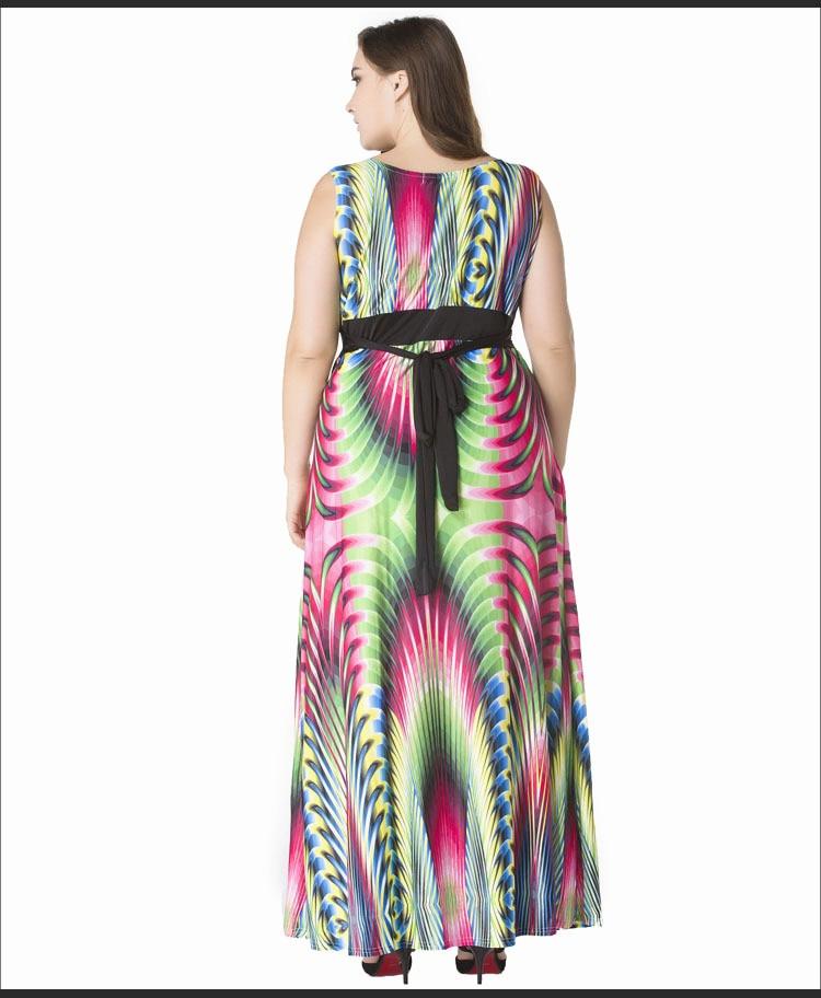 2017 Summer Women Boho Plus Size Long Dress Maxi Sundress Jurken ...