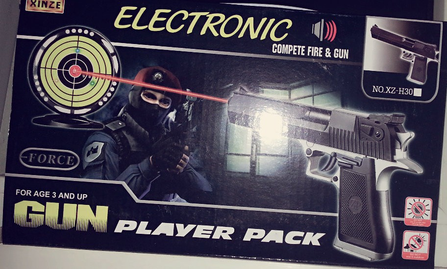 Kids Children S.W.A.T Toy Laser Gun Set and Electronic Target Shooting Practice