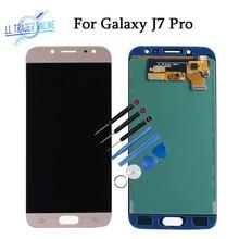 5.5 inç ekran paneli meclisi Samsung Galaxy J7 Pro J730 dokunmatik ekran LCD değiştirme ile ayarlamak parlaklık