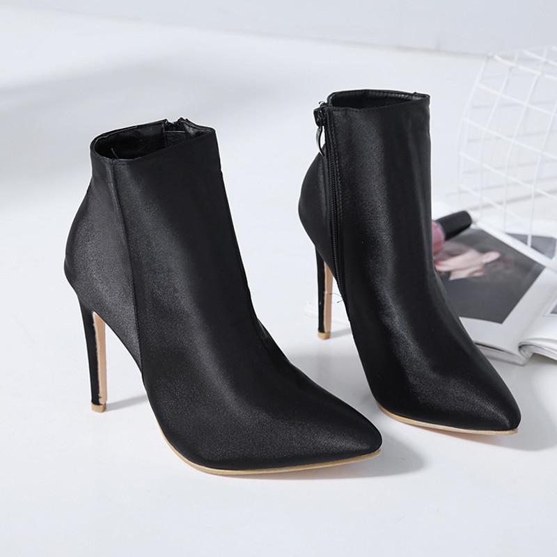 Invierno Altos Para Botas Xue Punk 5 Duan Vestido Calcetín Zapatos Cm 10 De Otoño Primavera Negro Punta Ladies Black Estrecha Mujer Tacones AX7IXqa