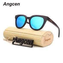 Angcen 2018 New fashion Men Women brand designer Glasses Bamboo Sunglasses Wood Handmade Frame Polarized Eyewear ZB22 цена