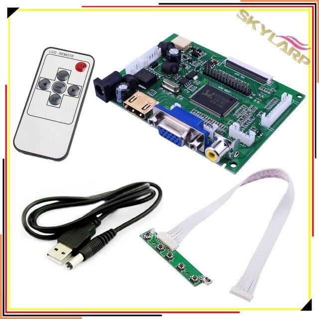 Skylarpu Universal Raspberry Pi AT070TN90 AT070TN92 AT090TN10 AT090TN12 Kit HDMI VGA Input Driver Board
