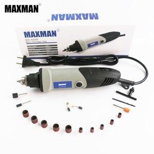 Minimolinillo eléctrico profesional MAXMAN 400w herramienta dremel 0,6 ~ 6,5mm herramienta de rotación de velocidad variable herramientas multieléctricas DIY