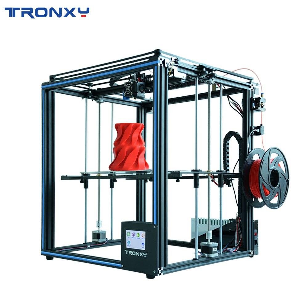 2019 Atualizado X5SA 3D Impressora DIY Kit 330*330 milímetros Viveiro Retomar o Poder Falha Sensor CoreXY Impressão Filamento 3d impressora TRONXY