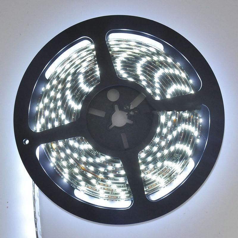 12V 5M SMD 3528 300 LED Optional Waterproof Flexible Warm Cool White Strip Light