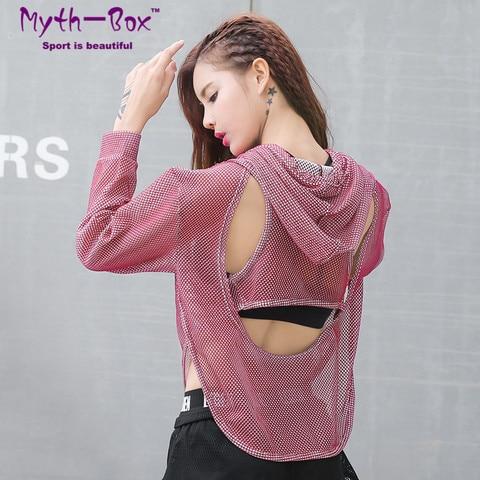 Cropped com Capuz Camisa Feminina Blusa Curta Esportiva Costas Abertas Academia Yoga