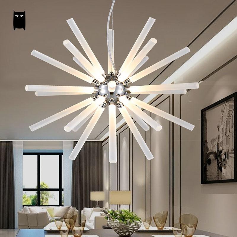 LED Iron Acrylic Ball Sphere Globe Dandelion Chandelier Light Fixture Modern Contemporary Ceiling Lamp Lustre Dining Living Room dandelion print dining mat