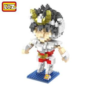 Image 2 - Bloques de construcción de los personajes de Saint Seiya, juguete de piezas de bloques de construcción de los Santos de bronce, Shiryu Ikki Super Hyoga Shun, colección limitada