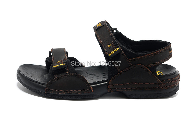 6fb1febab 2014 free shipping CAT mens sandals genuine leather cowhide sandals outdoor  casual men leather sandals for men -in Women's Sandals from Shoes on ...