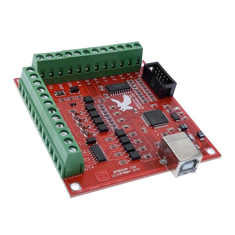 CNC USB плата для выхода сигнала MACH3 4-осевой интерфейс драйвера контроллера движения плата драйвера 100 кГц