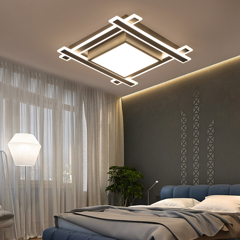 VEIHAO Modern acrylic LED ceiling light Overlapping frames large luxury ceiling lamp for living dining bed room luster avize