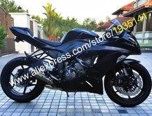 Hot Sales,For Kawasaki Ninja ZX6R ZX 636 13-15 ZX-6R 2013-2015 ZX 6R Black Sports ABS Motorcycle Fairing Kit (Injection molding)