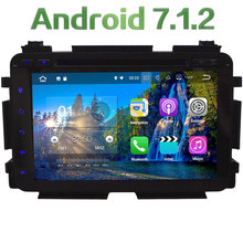 HD Android 7.1 Quad Core 2GB RAM 4G WiFi SWC BT Multimedia Car DVD Player Radio Stereo GPS Screen For Honda Vezel HRV 2014-2016
