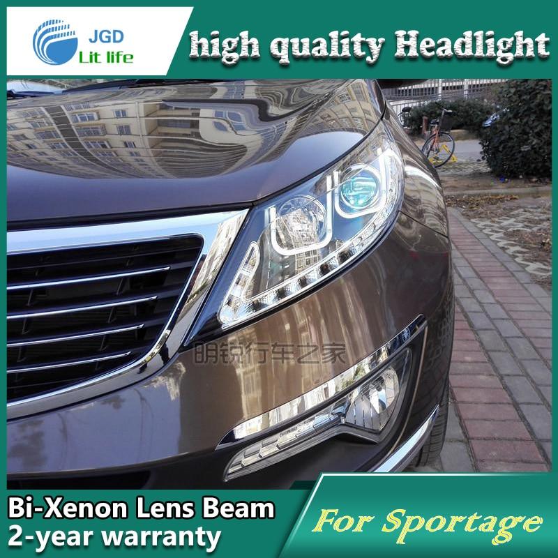 Car Styling Head Lamp case for Kia Sportage Headlights LED Headlight DRL Lens Double Beam Bi-Xenon HID car Accessories