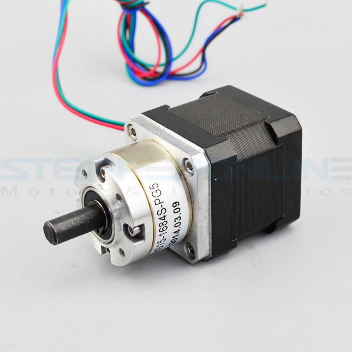 Nema 17 Gearbox stepper motor Gear ratio 5:1 1.68A planetary reduction gearbox 42.3*42.3*67.3mm nema17 gear for 3d printer поднос gift