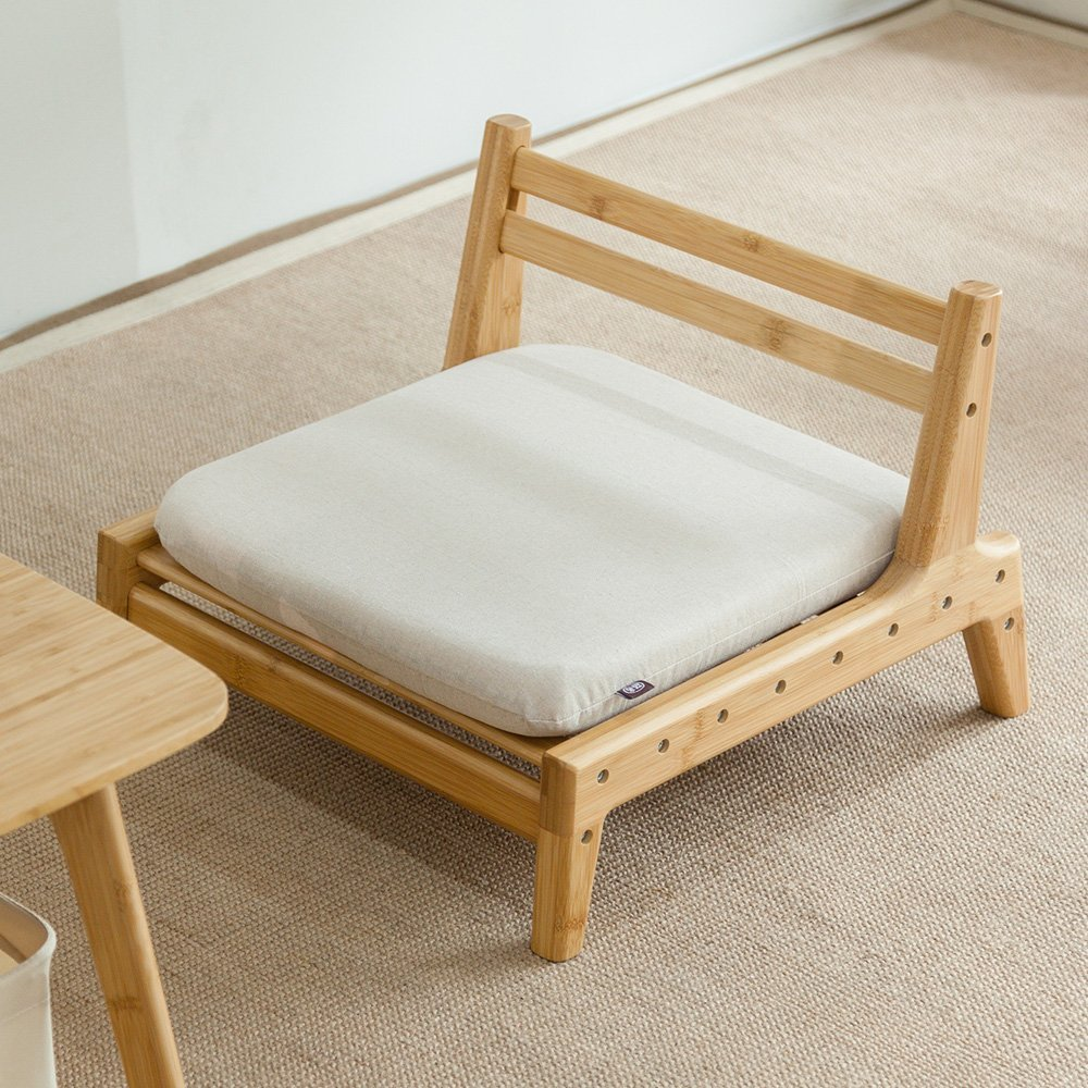 Meditation Seat With Cushion Tatami Chair Floor Backrest Chair Home Living Room Bamboo Furniture Japanese Legless Zaisu Chair