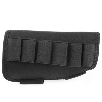Przenośny regulowany karabin taktyczny kolba woreczek cheek rest Bullet Bag na 6 sztuk ładowanie Stock Gun akcesoria myśliwskie