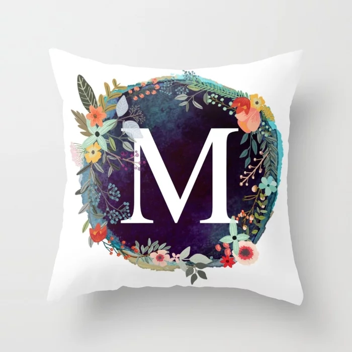 personalized-monogram-initial-letter-m-floral-wreath-artwork-pillows.webp