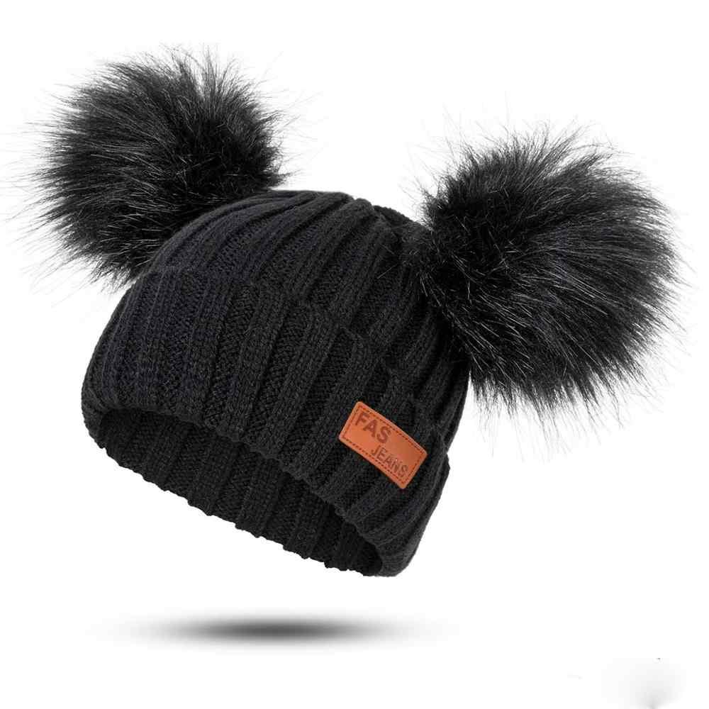 947dfa471 MOLIXINYU New Baby Boy Girl Pom Poms Hat Child Winter Hat Girl Knit ...