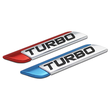 DSYCAR 3D Metal TURBO Turbocharged Car sticker Logo Emblem Badge Decals Styling DIY Decoration Accessories for Frod Bmw Ford
