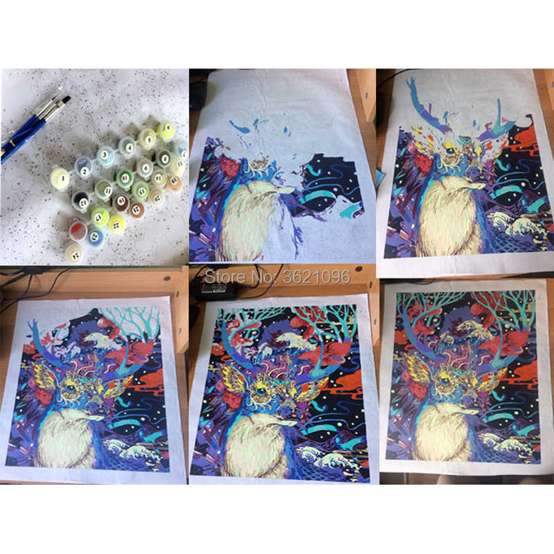 ของขวัญพิเศษภาพวาดด้านหลังแฟน DIY ภาพน้ำมันภาพวาดความงาม hope สำหรับตกแต่งบ้าน