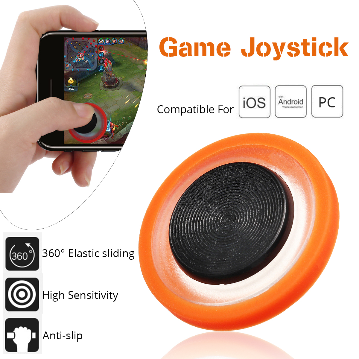 1Pcs Mobile Phone Game Joystick Smartphone Game Pad Controller Gaming Trigger For PUBG Mobile for IOS Android PC