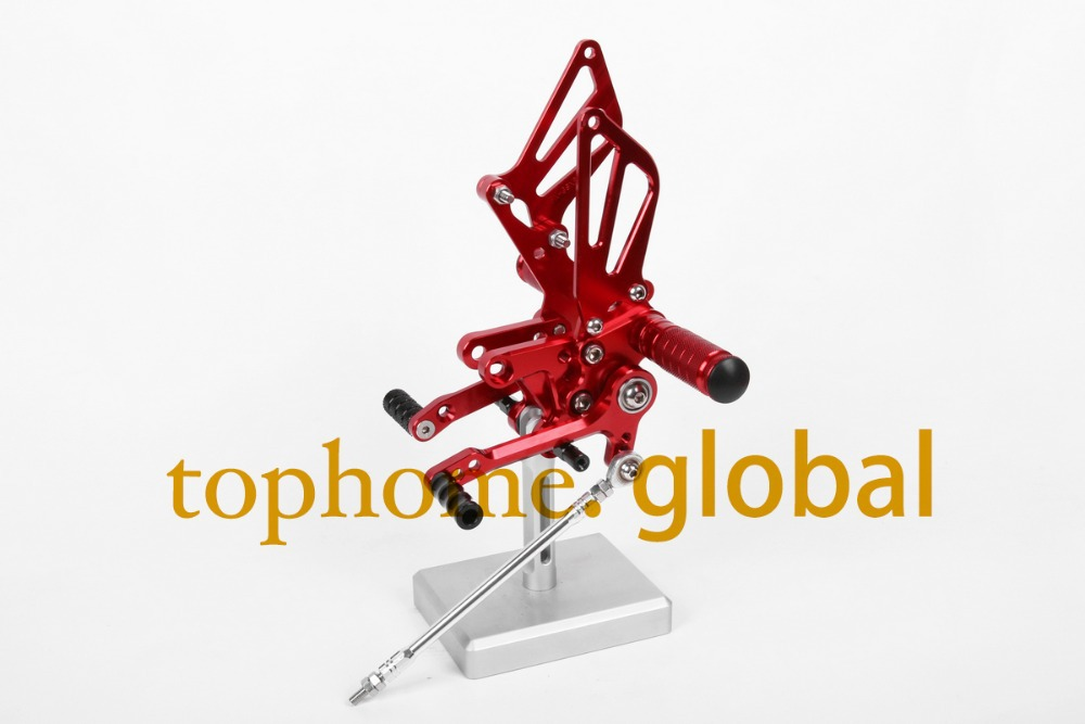 Free Shipping Motorcycle Red CNC Rearsets Foot Pegs Rear Set For Suzuki SV650 SV650S