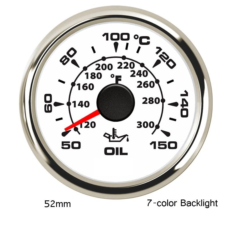 Speedo 6 Gauge set 043-WC Tacho blue LED Oil,Temp,Fuel,Volt white//chrome