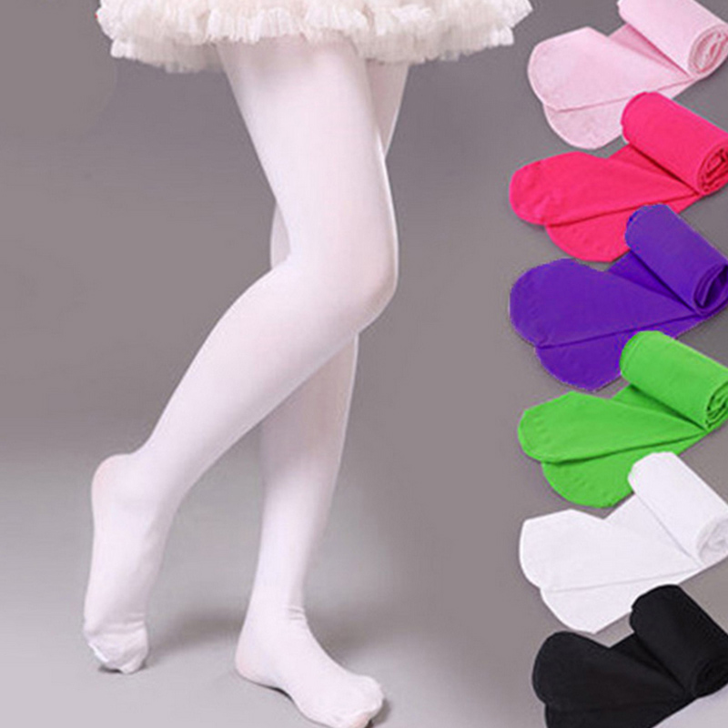 0-12Y Children Pantyhose Girls Tights Candy Color Baby Stocking Tight Stocking Ballet Dancing Velvet Kids Tights Hosiery D25