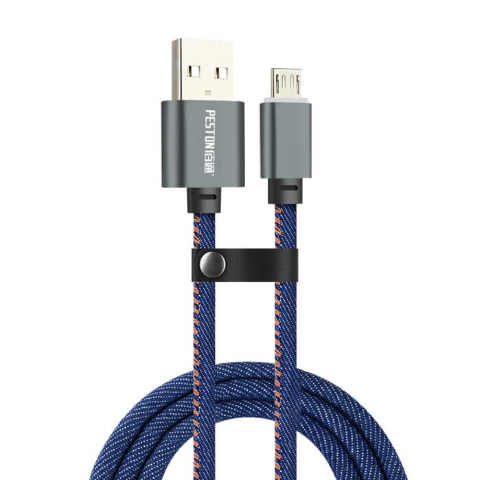 1m Denim Charge Cable For Samsung Galaxy S10 Plus S9 S8 S7 Edge Type C Cable USB 2.0 Android Charge Cable IPhone 8 7 X XS XR