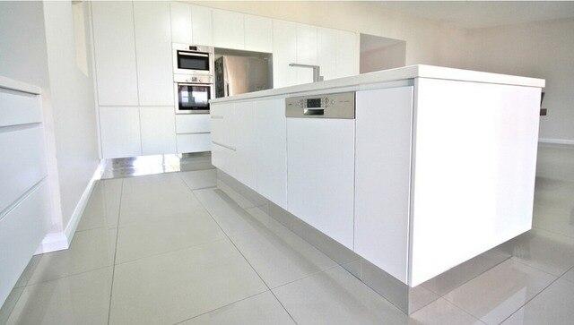 diseo popular dos paquete de pintura blanca de alto brillo gabinetes de cocina modernos muebles